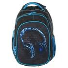 Рюкзак школьный эргономичная спинка Kite 8001 Junior-3, 40 х 30 х 17 см, чёрный/синий