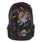 Рюкзак школьный эргономичная спинка Kite 855 Junior-3, 40 х 30 х 17 см, чёрный
