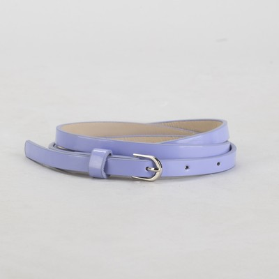 Belt female, smooth, width - 1 cm, buckle metal, color lilac
