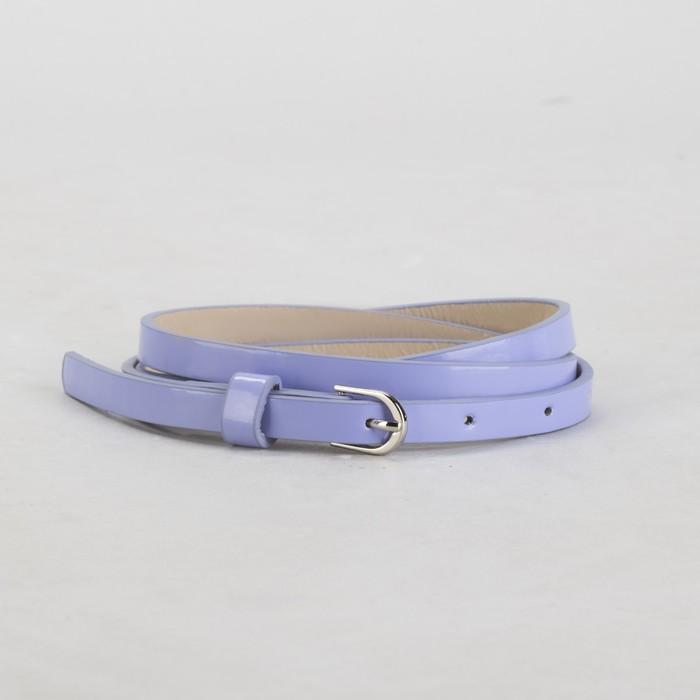 Ремень женский, гладкий, ширина - 1 см, пряжка металл, цвет сиреневый