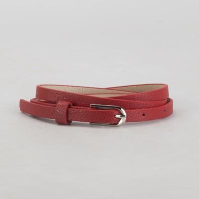 Ремень женский, гладкий, пряжка металл, цвет бордовый