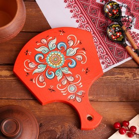 Cutting Board, 18×23×0.8 cm, Shenkurskiy painted red