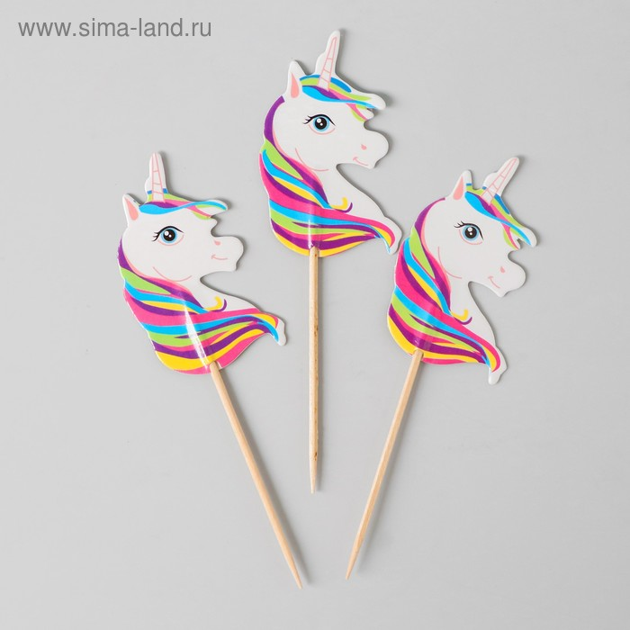 """Skewers for canapes """"Unicorn"""" mix color (set of 12 PCs)"""