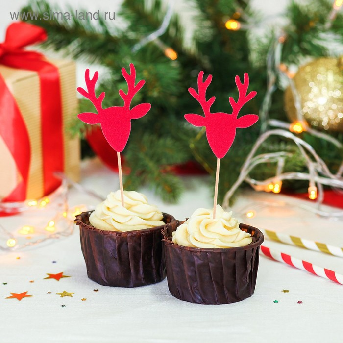 """Skewers for canapes """"Deer"""" (set of 6 PCs)"""