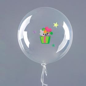 """Наклейки для воздушных шаров """"С Днём рождения"""", зверята, лист 21 х 36 см"""