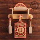 Набор кухонный, 5 предметов, 36×51 см, пермогорская роспись
