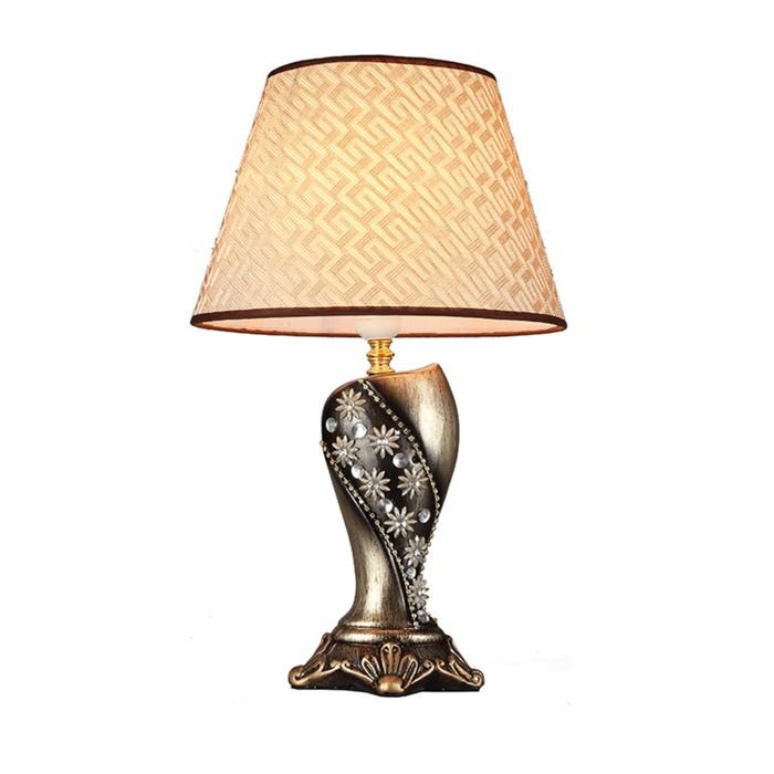 """Настольная лампа """"Флос"""" 1x60w E27 мультиколор 30x30x48см."""
