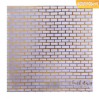 """Paper for scrapbooking with embossed """"Smile"""", 20 × 20 cm, 250 g/m"""