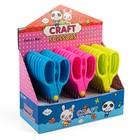 Ножницы 13 см, пластиковые ручки, закругленные концы лезвий, в картонной коробке, МИКС