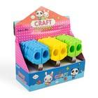 Ножницы 12 см, пластиковые ручки, «Мишка», закругленные концы лезвий, в картонной коробке, МИКС