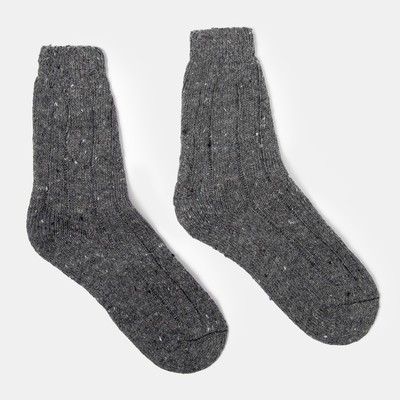 Носки мужские теплые, цвет МИКС, размер 27