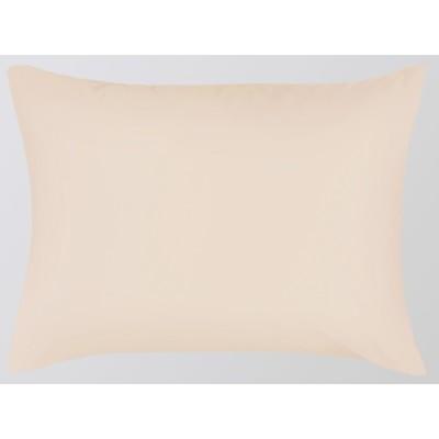Наволочка на молнии, размер 70х70 см, кремовый, сатин