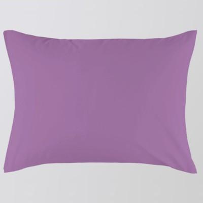 Наволочка на молнии, размер 70х70 см, лиловый, сатин