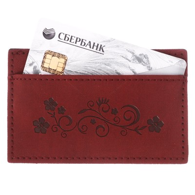 """Holder for cards """"March 8"""", faux leather"""