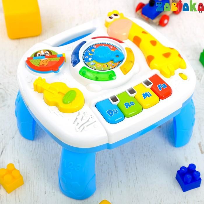 Развивающий музыкальный столик, звуковые эффекты, работает от батареек