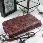 Кошелёк женский, 4 отдела на молниях, с ручкой, цвет фиолетовый - фото 55700