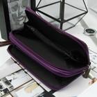 Кошелёк женский, 4 отдела на молниях, с ручкой, цвет фиолетовый - фото 55701