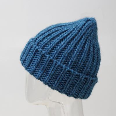 Шапка женская MWH8173 цвет морская волна, р-р 56-58