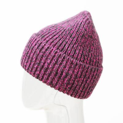 Шапка женская MWH8790 цвет серо-розовый, р-р 56-58