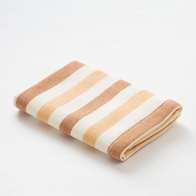 "Towel double-sided ""Ethel"" Stripe wheel drive.bronze 35x35 cm, 380 g/m2, 100% cotton"