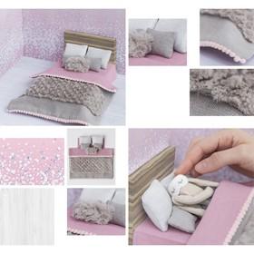 Кроватка для игрушки–малютки «Сны принцессы», набор для шитья, 21 × 29,7 × 1 см