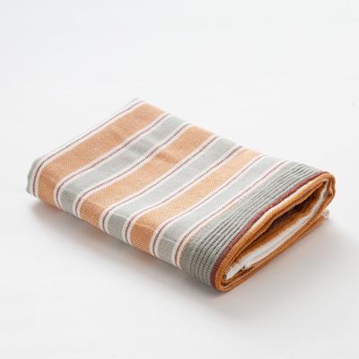 "Towel double-sided ""Ethel"" Geometry wheel drive.gray-cinnamon. 35x35 cm, 380 g/m2, 100% cotton"