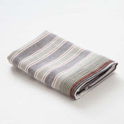 "Towel double-sided ""Ethel"" Geometry graphite 35x35 cm, 380 g/m2, 100% cotton"