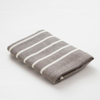 "Towel double-sided ""Ethel"" Modern gray 35x35 cm, 380 g/m2, 100% cotton"