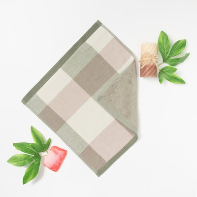 """Towel double-sided """"Ethel"""" Cell Col.green 35x35 cm, 380 g/m2, 100% cotton"""