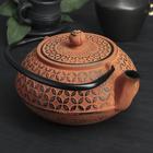 """Чайник с ситом 800 мл """"Лайан"""", оранжевый"""
