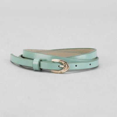 Belt female, smooth, width - 1 cm, buckle gold color mint