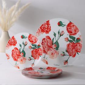 Сервиз столовый «Розовый рай», 7 предметов: 1 шт 30 см, 6 шт 21,5 см, в подарочной упаковке