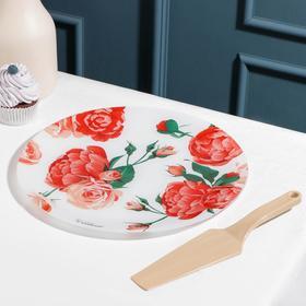 {{photo.Alt || photo.Description || 'Подставка для торта «Розовый рай», d=30 см, с лопаткой, в подарочной упаковке'}}