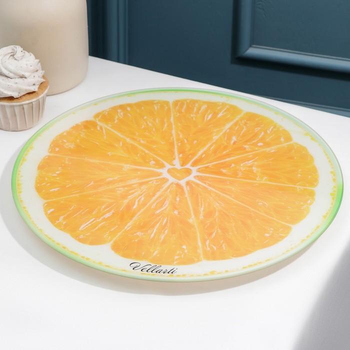 """Блюдо вращающееся 30 см """"Апельсин"""", подарочная упаковка"""