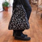 Мешок для обуви, отдел на шнурке, цвет чёрный