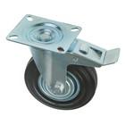 Колесо для транспортных тележек, d=125 мм, на площадке, со стопором