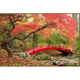 Алмазная мозаика «Японский парк», 45 × 30 см, 38 цветов