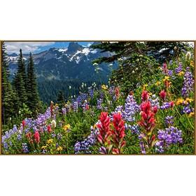 Алмазная мозаика «Весна в горах», 65×50 см, 45 цветов
