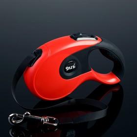 Рулетка DIIL, 5 м, до 40 кг, лента, прорезиненная ручка, красная с чёрным