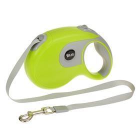 Рулетка DIIL, 8 м, до 50 кг, лента, прорезиненная ручка, зелёная с серым