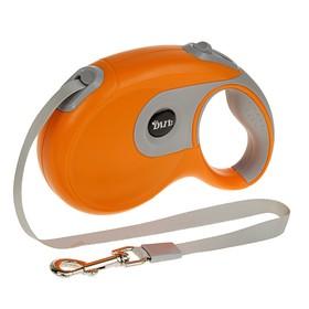 Рулетка DIIL, 8 м, до 50 кг, лента, прорезиненная ручка, оранжевая с серым