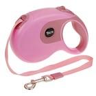 Рулетка DIIL, 8 м, до 50 кг, лента, прорезиненная ручка, розовая