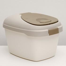 Контейнер для корма Soft на 5 кг, с совком и двойным уплотнителем, коричневый