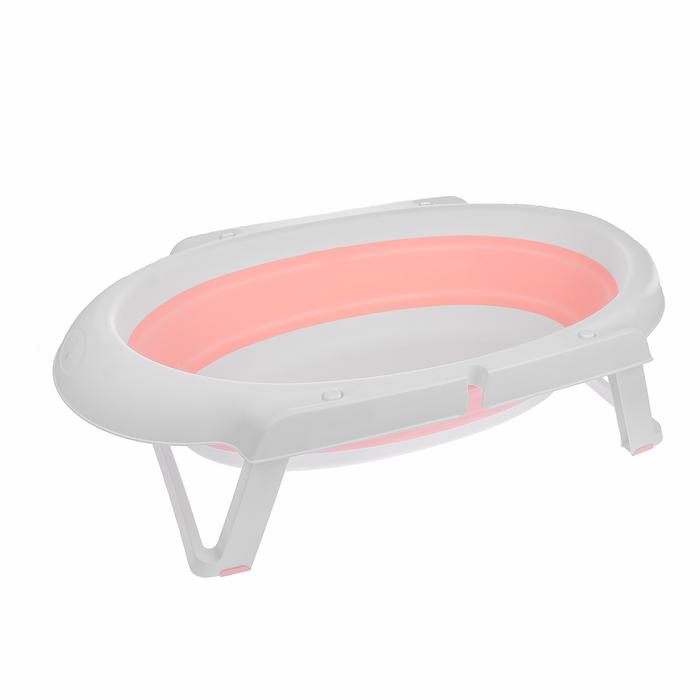 Ванночка детская складная, цвет розовый