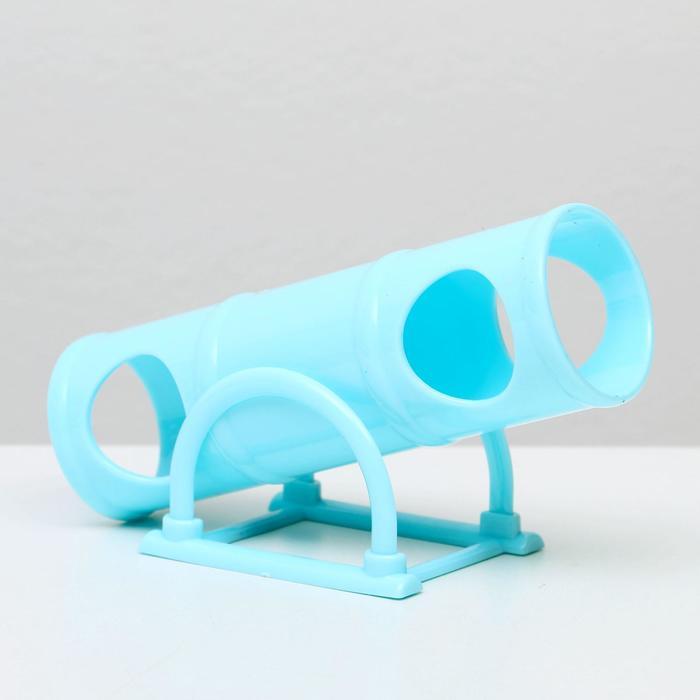 Пластиковый туннель-качели для мелких грызунов Carno, микс цветов