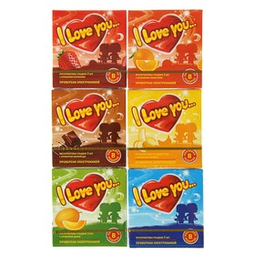 Презервативы I Love You  с ароматом фруктов МИКС, 3 шт