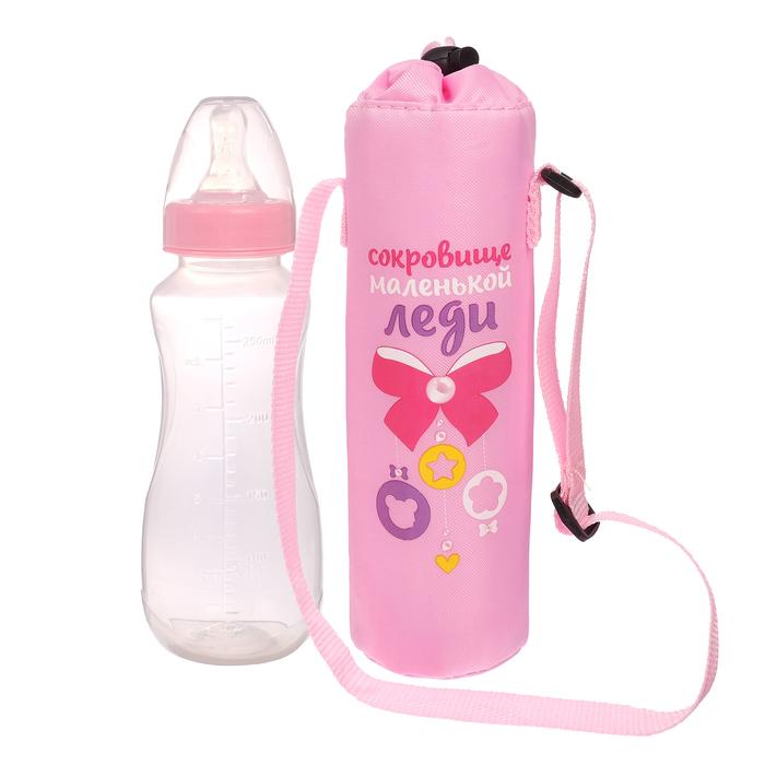 Термосумка «Маленькая леди» для бутылочки 250 мл - фото 105540263