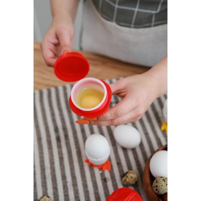 Набор контейнеров для варки яиц без скорлупы 6,5х9 см, 6 шт