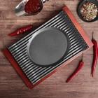 "Сковорода 29х19,6х3,2 см ""Мио"", на деревянной подставке - фото 308065012"