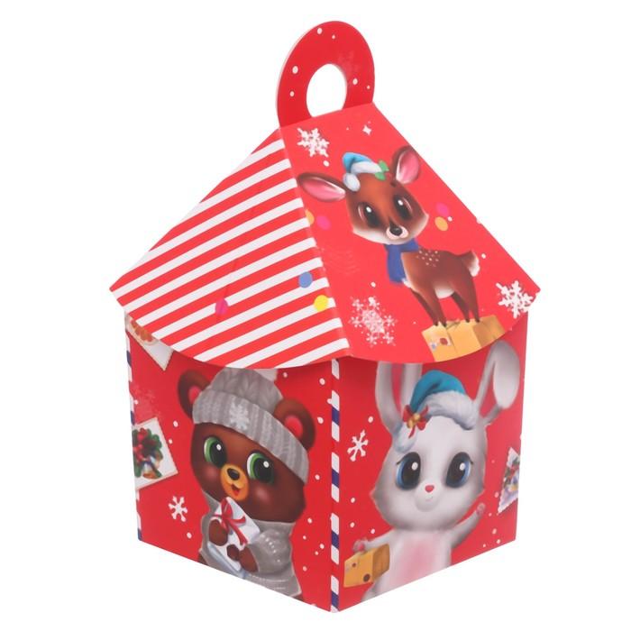 Складная коробка «Новогодняя почта», 11 × 22 × 11 см